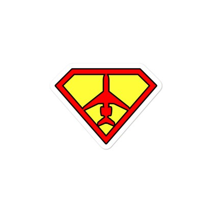 airplaneTees SuperCRJ Pilot stickers... Bubble-free 2