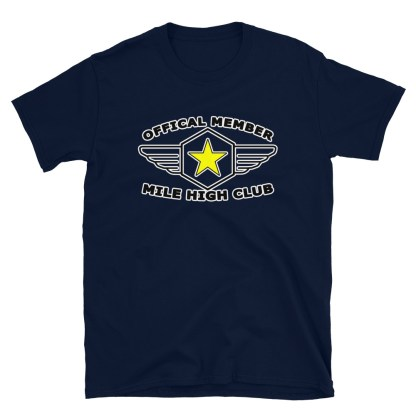airplaneTees Official Member Mile High Club Tee Short-Sleeve Unisex 6