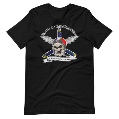 airplaneTees Pilots of the Caribbean Tee... Short-Sleeve Unisex T-Shirt 6