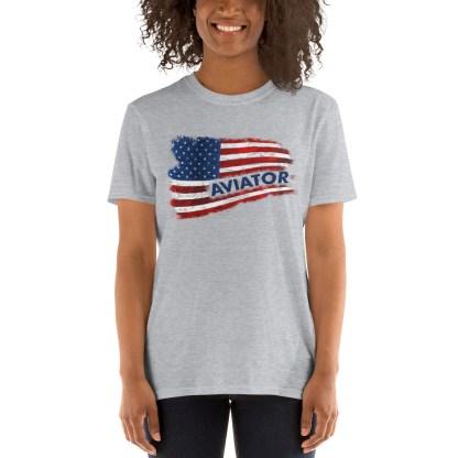 airplaneTees Aviator US Flag tee... Short-Sleeve Unisex 4