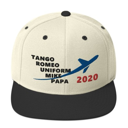 airplaneTees TRUMP 2020 Hat- Black... Snapback Hat 7