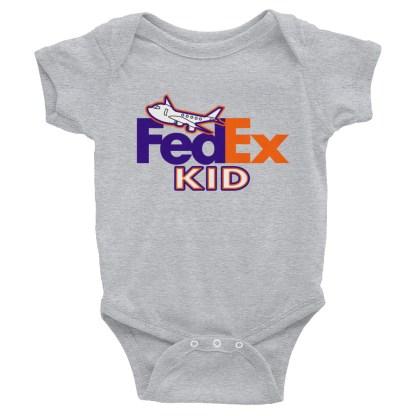 airplaneTees FedEx Kid Onesie... Rabbit Skins... Infant Bodysuit 1