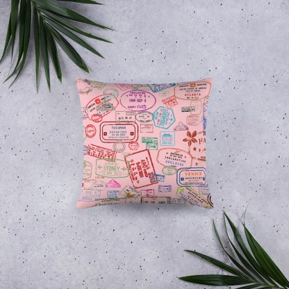 airplaneTees Going Places Pillow - Pink 5