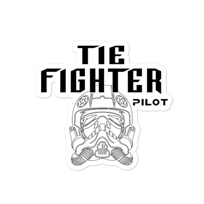 airplaneTees Tie Fighter Pilot Stickers... Bubble-free 3