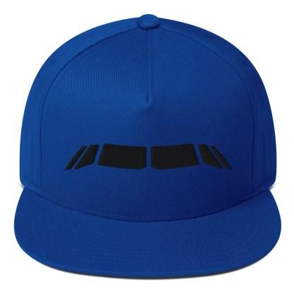 airplaneTees Airbus Flightdeck Windows Cap... Flat Bill 2