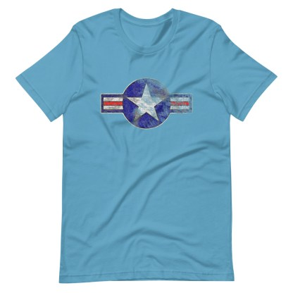 airplaneTees Roundel US Armed Forces tee weathered...Short-Sleeve Unisex T-Shirt 12