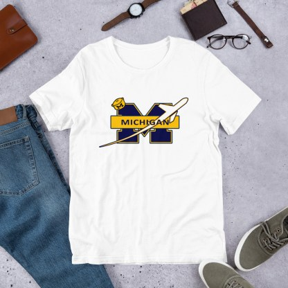 airplaneTees Michigan Wolverines Tee, with an airplane... Short-Sleeve Unisex 7