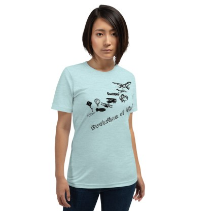 airplaneTees Evolution of Flight... Short-Sleeve Unisex T-Shirt 5