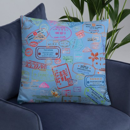 airplaneTees Going Places Pillow - Light Blue 33