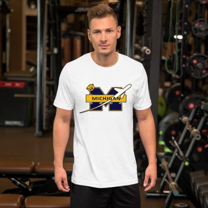 airplaneTees Michigan Wolverines Tee, with an airplane... Short-Sleeve Unisex 8