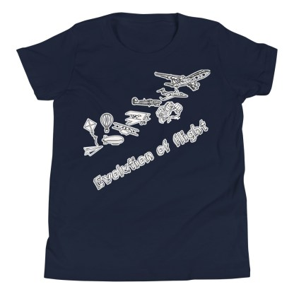 airplaneTees Evolution of Flight Youth Tee... Short Sleeve 5