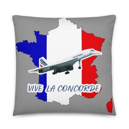 airplaneTees Vive La Concorde Pillow 1