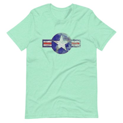 airplaneTees Roundel US Armed Forces tee weathered...Short-Sleeve Unisex T-Shirt 13