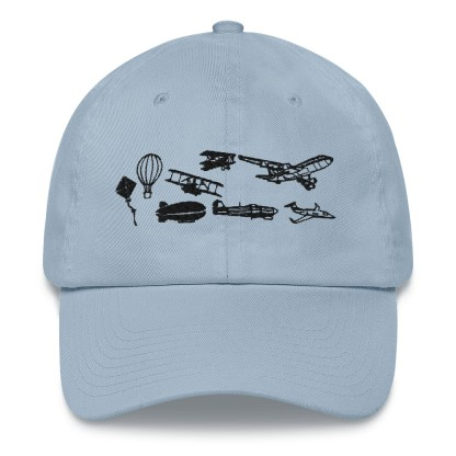 airplaneTees Evolution of Flight Dad hat 8