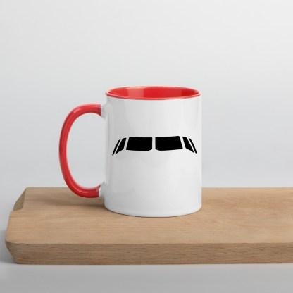 airplaneTees Airbus flightdeck windows Mug... with Color Inside 1