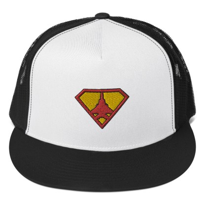 airplaneTees Super Fighter Pilot Hat... Trucker Cap 1