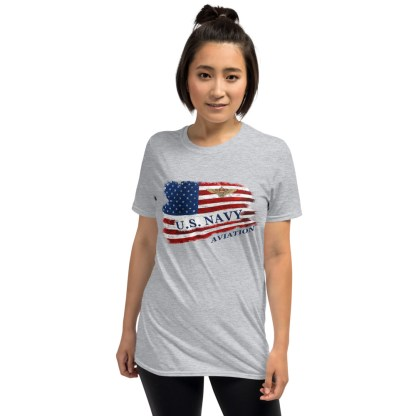 airplaneTees US Navy Aviation American Flag Tee... Short-Sleeve Unisex 6
