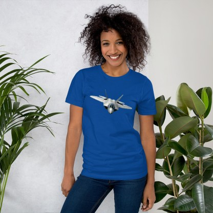 airplaneTees F22 Front View... Short-Sleeve Unisex T-Shirt 7