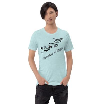 airplaneTees Evolution of Flight... Short-Sleeve Unisex T-Shirt 3