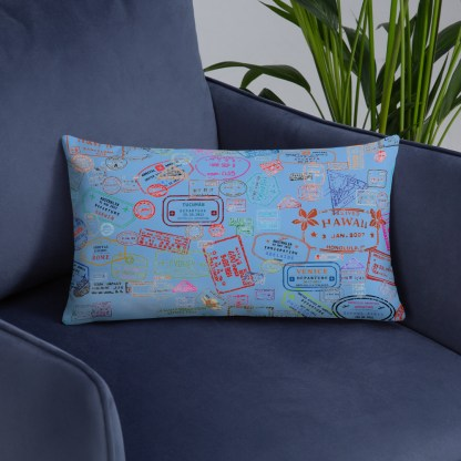 airplaneTees Going Places Pillow - Light Blue 6