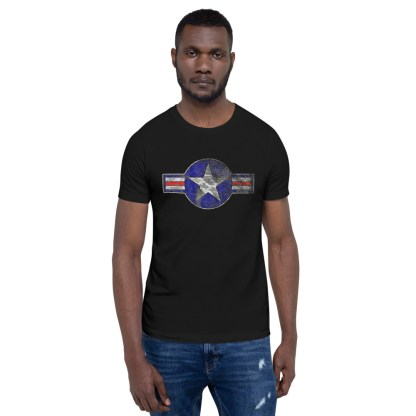 airplaneTees Roundel US Armed Forces tee weathered...Short-Sleeve Unisex T-Shirt 2