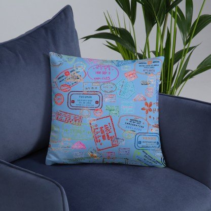 airplaneTees Going Places Pillow - Light Blue 19