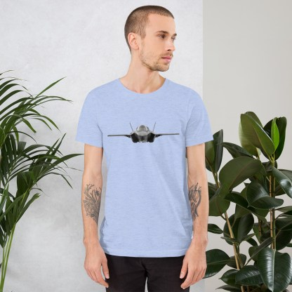 airplaneTees F35 Front View... Short-Sleeve Unisex T-Shirt 7