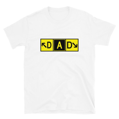 airplaneTees DAD Taxiway Art Tee... Short-Sleeve Unisex T-Shirt 4
