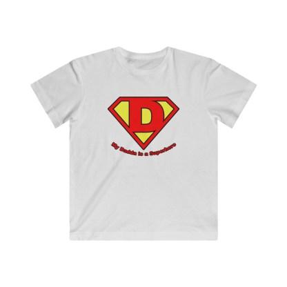 airplaneTees My Dadda is a Superhero Tee - Kids Fine Jersey 2