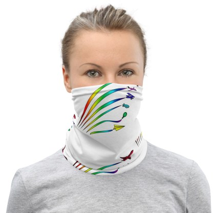 airplaneTees Flight Path of Pride Face Mask/Face Covering/Neck Gaiter 2