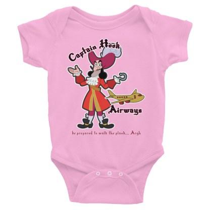 airplaneTees Captain Hook Airways Onesie... Infant Bodysuit 5