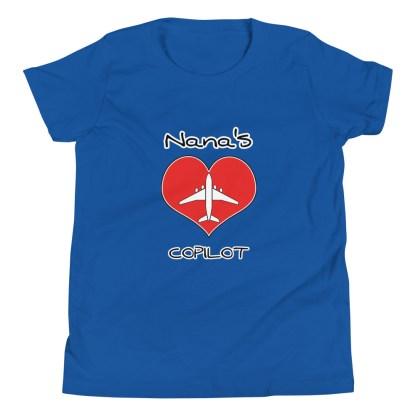 airplaneTees CUSTOM Nana's CoPilot, Grannies CoPilot, Papa's CoPilot Tee Youth Short Sleeve 8