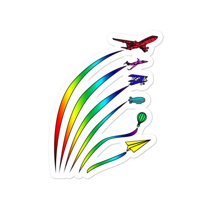 airplaneTees Flight Path of Pride Stickers... Bubble-free 3