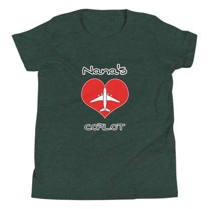 airplaneTees CUSTOM Nana's CoPilot, Grannies CoPilot, Papa's CoPilot Tee Youth Short Sleeve 4
