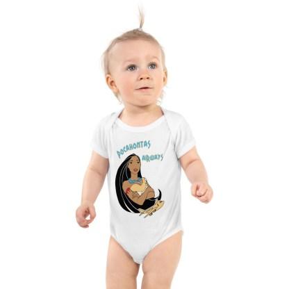 airplaneTees Pocahontas Airways Onesie... Infant Bodysuit 4