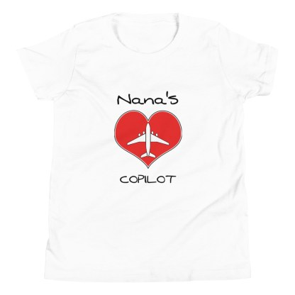 airplaneTees CUSTOM Nana's CoPilot, Grannies CoPilot, Papa's CoPilot Tee Youth Short Sleeve 9
