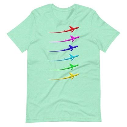 airplaneTees Pride Streak Tee - Short-Sleeve Unisex 12