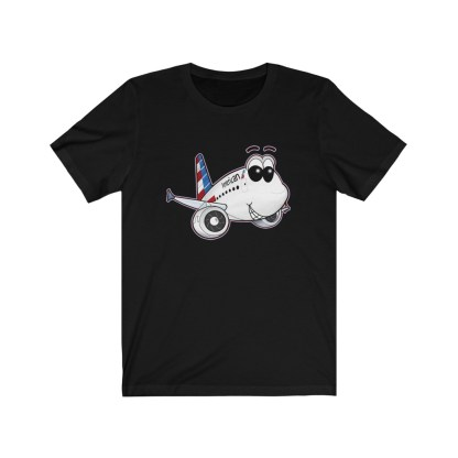 airplaneTees American Airlines Airbus A321 Smiley Tee... Adult Unisex 4
