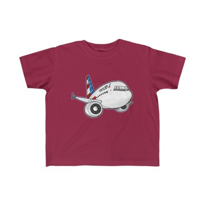 airplaneTees American Airbus Toddler Tee... Kid's Fine Jersey 6