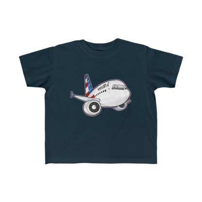 airplaneTees American Airbus Toddler Tee... Kid's Fine Jersey 5
