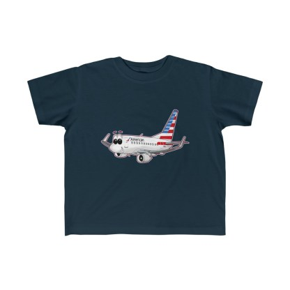 airplaneTees American Airlines Smiley 737 Toddler Tee... Kid's Fine Jersey 5