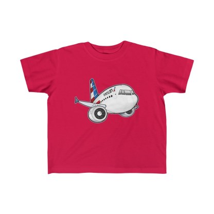 airplaneTees American Airbus Toddler Tee... Kid's Fine Jersey 1