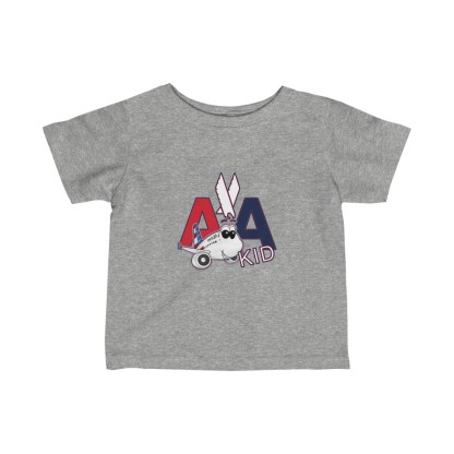 airplaneTees AA Kid Infant Tee Airbus... Fine Jersey 3