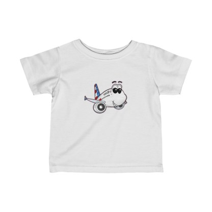 airplaneTees American Airlines Airbus A321 Smiley Infant Tee... Fine Jersey 2