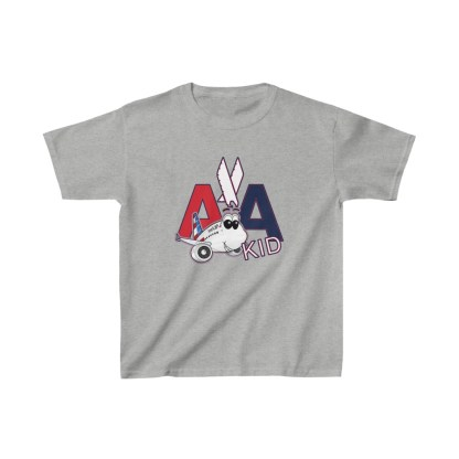 airplaneTees AA Kid Youth Tee Airbus... Kids Heavy Cotton™ 4