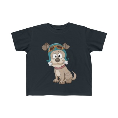 airplaneTees Doggie Pilot Toddler Tee... Kid's Fine Jersey Tee 4