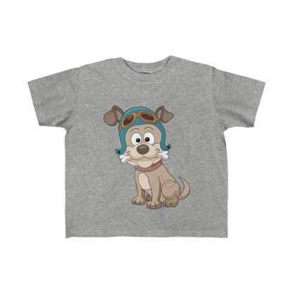 airplaneTees Doggie Pilot Toddler Tee... Kid's Fine Jersey Tee 3