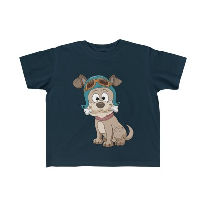 airplaneTees Doggie Pilot Toddler Tee... Kid's Fine Jersey Tee 5