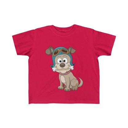 airplaneTees Doggie Pilot Toddler Tee... Kid's Fine Jersey Tee 6