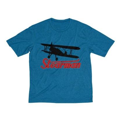 airplaneTees Stearman Tee... Men's Heather Dri-Fit 6